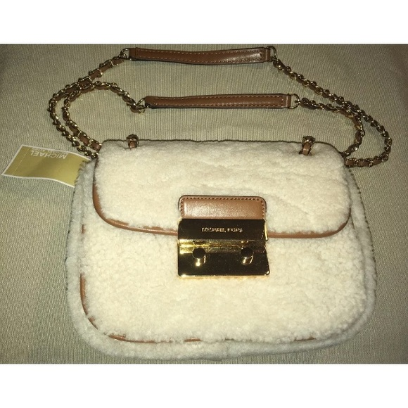 50d4f07f50b6 Michael Kors Sloan Fur Small Chain Shoulder Bag